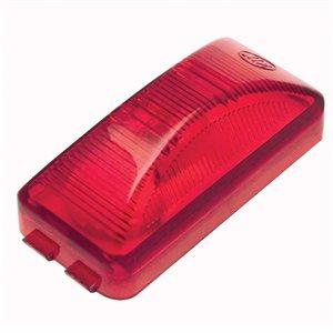 "1"" x 2.5"" MARKER LIGHT, INCANDESCENT, 1-BULB / RED"