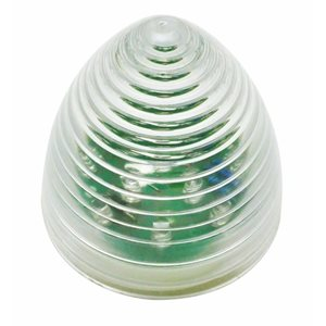 """2.5"""" ROUND BEEHIVE MARKER, 13 AMBER LED, CLEAR LENS"""