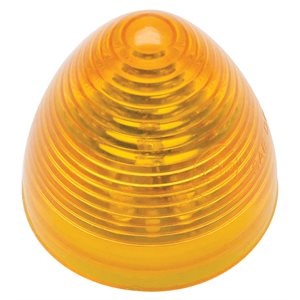 """2"""" ROUND, BEEHIVE MARKER LIGHT, 9 DIODES, AMBER"""