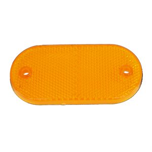 "REFLECTOR, 3-1 / 8"" X 1-3 / 8"" OVAL, AMBER LENS, SCREW MNT"