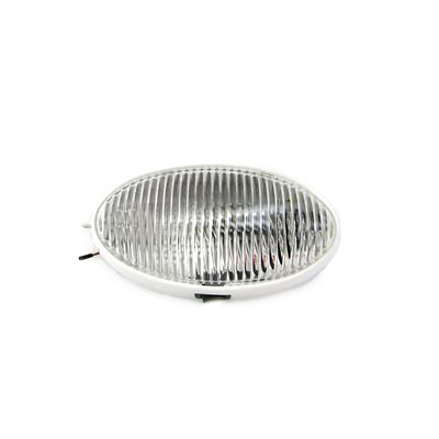 INCANDESCENT RV PORCH LIGHT, OVAL, CLEAR, W / SWITCH