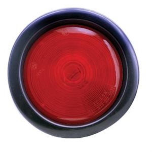 """4"""" ROUND, INCANDESCENT, STOP / TURN / TAIL LAMP, RED, W / GROMMET & STANDARD PLUG PIGTAIL"""