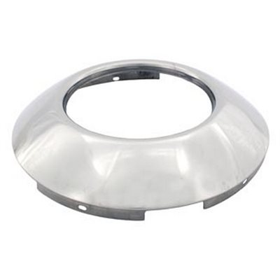 """HUB CAP, FRONT, BABY MOON, 22.5"""" & 24.5"""",5 TAB HUBS W / HOLE ,STAINLESS STEEL"""