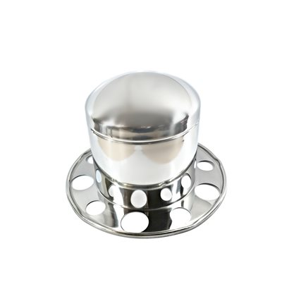 """AXLE COVER, REAR, 22.5"""" & 24.5"""", HUB PILOT, STAINLESS STEEL, CAP"""