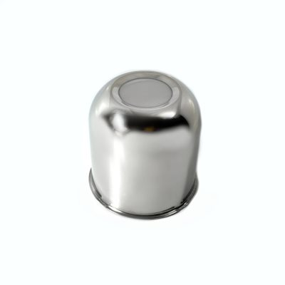 """AXLE COVER, PUSH-THROUGH CENTER,CLOSED, 3.28"""" DIA , STAINLESS STEEL"""