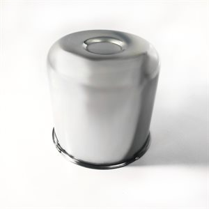 "AXLE COVER, PUSH-THROUGH, CENTER, 4.90"" DIA, CHROME PLATED"