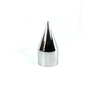 LUG NUT COVER, 33mm PUSH ON,SPIKE TIP, CHROME PLASTIC