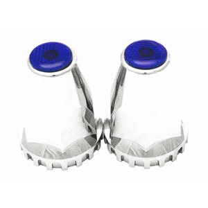 LUG NUT COVER, 33MM BLUE REFLECTIVE, CHROME ,UNIVERSAL