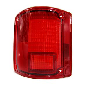 LEFT TAILLIGHT LENS, CHEVY, RED