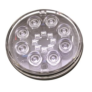 "4"" ROUND STOP / TURN / TAIL,SWEET 16 RED LED, CLEAR LENS"