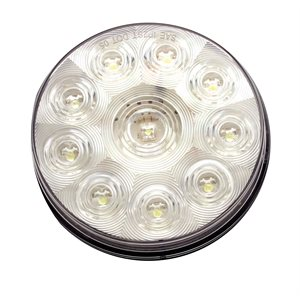 "4"" AUXILIARY LIGHT, 10 LED, WHITE, GROMMET MNT"