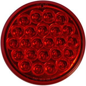 """LED STOP / TAIL / INDICATOR- STROBE, 4"""" ROUND- RED"""