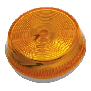 """2.5"""" ROUND MARKER LIGHT, INCANDESCENT, AMBER, SURFACE MOUNT, TWO WIRE SPADES"""