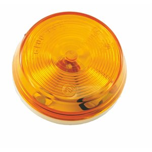 """2.5"""" ROUND MARKER LIGHT, INCANDESCENT, AMBER, SURFACE MOUNT, ONE WIRE"""