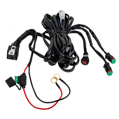 HARNESS,(2) TERMINALS, (2) DT PLUGS, W / ON / OFF SWITCH