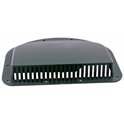 AIR VENT COVER, HALF-MOON, BLACK