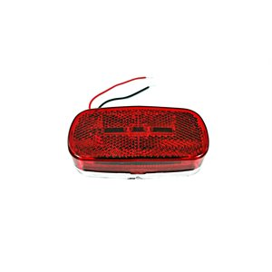 "4"" X 2"" MARKER LIGHT, 9 LED, RED, W / REFLECTOR ,W / CHROME BASE"