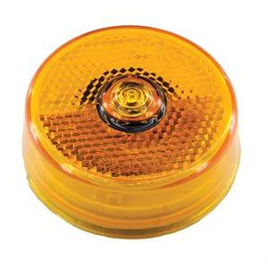 "2.5"" ROUND LED MARKER LIGHT, 1 DIODE, AMBER w / REFLEX"