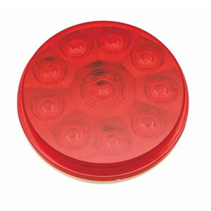 "4"" ROUND STOP / TURN / TAIL,10 RED LED"