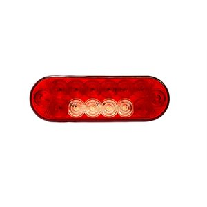 """6"""" RED OVAL LED LIGHT, Stop / Tail / Indicator / Reverse"""