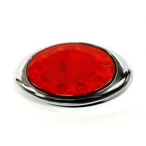"8"" OVAL -STOP / TAIL / INDICATOR LIGHT, 10 RED DIODE W / REFLECTOR"