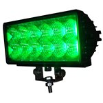 "7.9"" OFF-ROAD, LIGHT BAR, GREEN LED, DOUBLE ROW, 2700LM-SPOT"