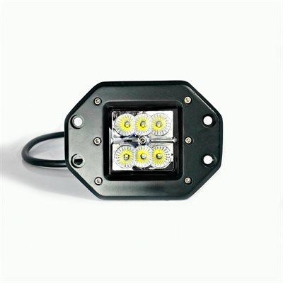 LED WORK LIGHT, 6 LED, FLUSH MOUNT -FLOOD