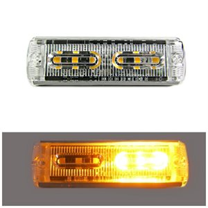 WARNING / STROBE LED LIGHT HEAD, FLASHING AMBER, ULTRA SLIM