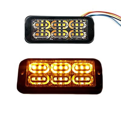 WARNING / STROBE LED LIGHT HEAD, FLASHING AMBER, DOUBLE ROW