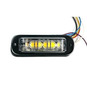 WARNING / STROBE LED LIGHT HEAD, WHITE & AMBER