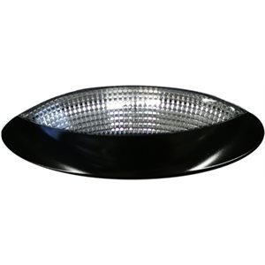 EURO STYLED PORCH LIGHT, BLACK, LED