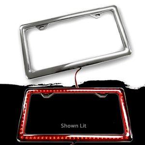 LED / CHROME LICENSE PLATE FRAME - RED
