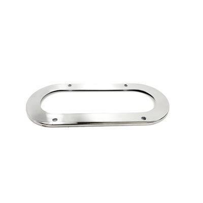 "BEZEL FOR 6"" OVAL, POLISHED STAINLESS STEEL"