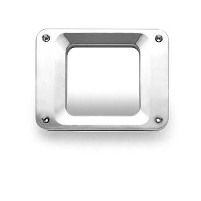 KENWORTH BEZEL-DOOR HANDLE FOR STANDARD DOOR. SINGLE-CHROME