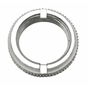 FREIGHTLINER FACE NUT, CHROME, FOR LARGE AIR TOGGLES, AIR WINDOWS