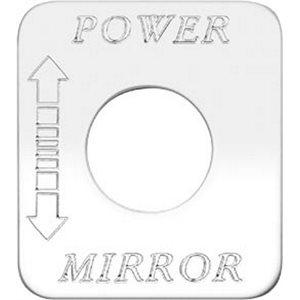 """SWITCH PLATE- """"POWER MIRROR"""", ENGRAVED"""