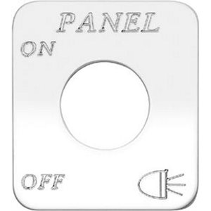 """SWITCH PLATE- """"PANEL LIGHTS, ON / OFF"""" ENGRAVED"""
