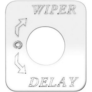 """SWITCH PLATE- """"WIPER DELAY"""" ENGRAVED"""