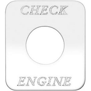 """SWITCH PLATE- """"CHECK ENGINE"""" ENGRAVED"""