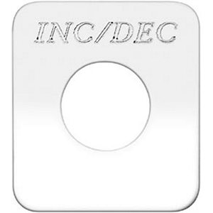 """SWITCH PLATE- """"INC / DEC"""" ENGRAVED"""