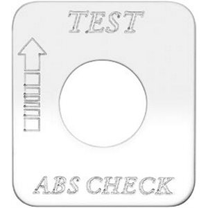 """SWITCH PLATE- """"TEST ABS CHECK"""" ENGRAVED"""
