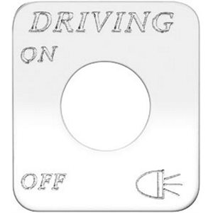 """SWITCH PLATE- """"DRIVING LIGHTS, ON / OFF"""" ENGRAVED"""