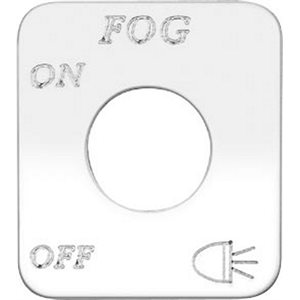 """SWITCH PLATE- """"FOG LIGHTS, ON / OFF"""" ENGRAVED"""