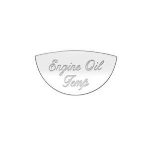 PETERBILT GAUGE EMBLEM, ENGINE OIL TEMP