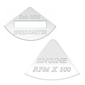 FREIGHTLINER GAUGE EMBLEM, Kmh / MPH SPEEDOMETER & ENGINE RPM- FLD CLASSIC
