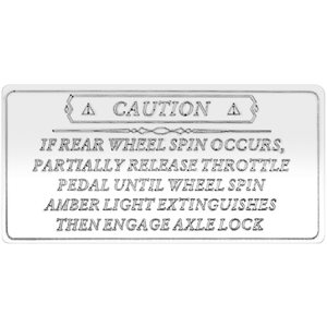 FREIGHTLINER STATEMENT PLATE -LARGE, AXLE LOCK STATEMENT