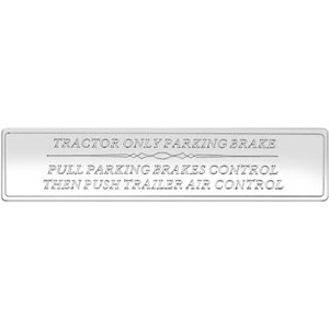 FREIGHTLINER STATEMENT PLATE -LARGE, AIR BRAKE CONTROL STATEMENT