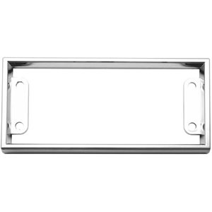 KENWORTH PARKING BRAKE BEZEL, CHROME PLASTIC
