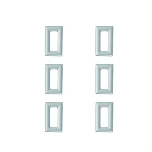 KENWORTH CHROME SWITCH BEZEL - 6PK