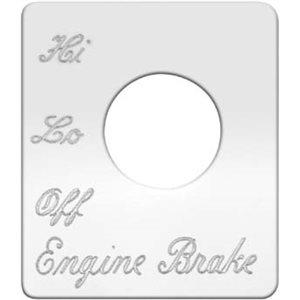 PETERBILT SWITCH PLATE,ENGINE BRAKE-ONE SWITCH